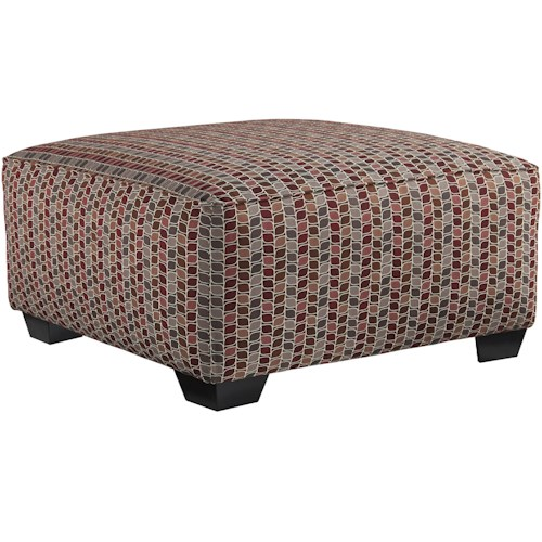Benchcraft Doralin - Steel Contemporary Oversized Accent Ottoman with Block Feet