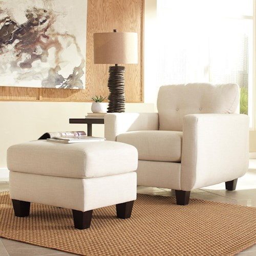 Benchcraft Drasco Contemporary Chair & Ottoman