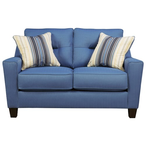 Benchcraft Forsan Nuvella Contemporary Loveseat In Performance Fabric Wayside Furniture Love