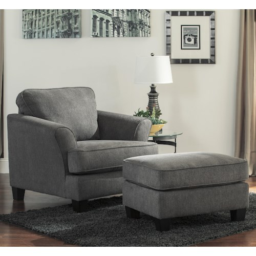 Benchcraft Gayler Contemporary Chair & Ottoman