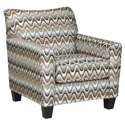 Benchcraft Gayler Accent Chair in Wavy Stripe Fabric
