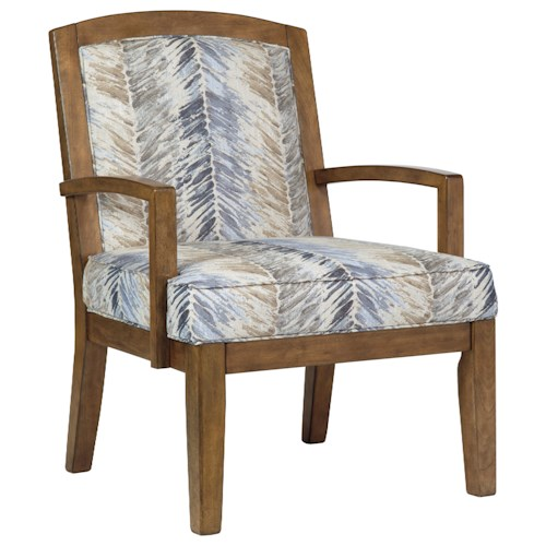 Benchcraft Hillsway Contemporary Wood Frame Accent Chair