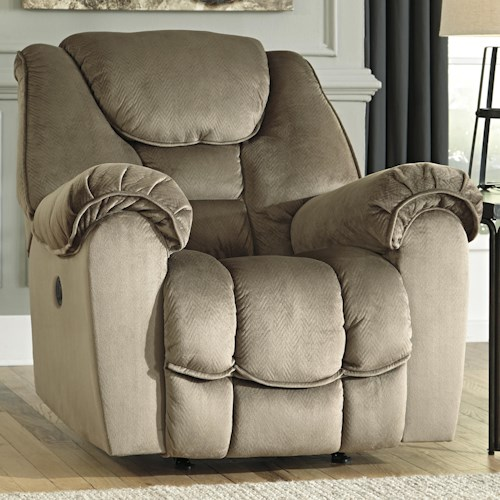 Ashley/Benchcraft Jodoca Casual Contemporary Power Rocker Recliner
