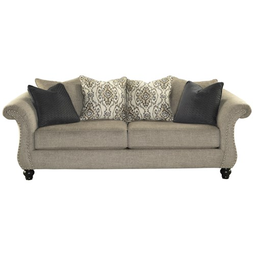 Benchcraft Jonette Sofa with Loose Back Pillows & Reversible Seat Cushions