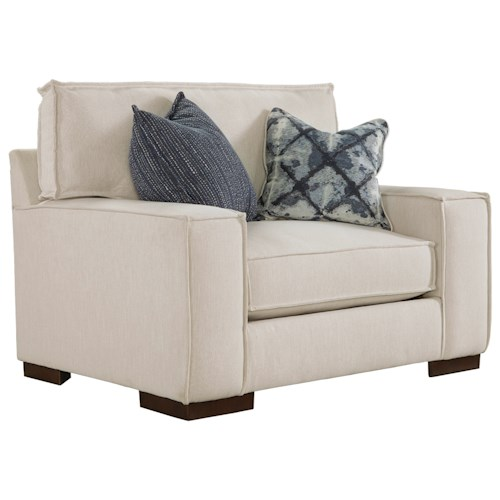 Ashley Kendleton Modern Chair and a Half with Reversible UltraPlush Seat Cushion