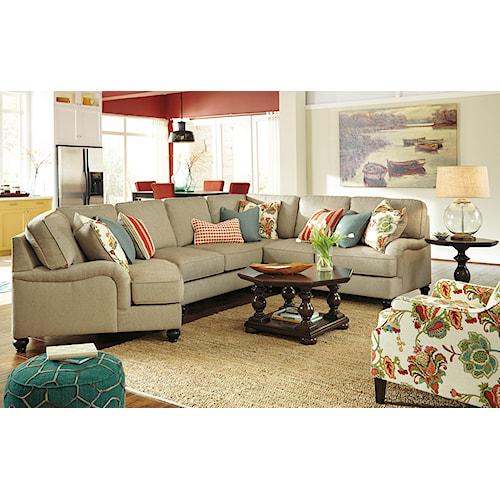 Ashley/Benchcraft Kerridon Stationary Living Room Group