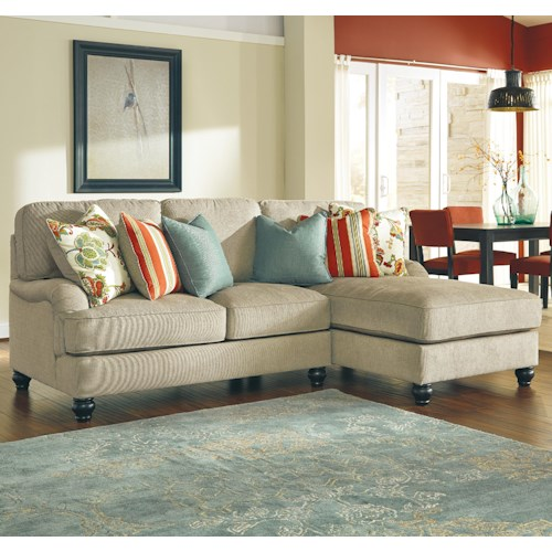 Ashley/Benchcraft Kerridon 2-Piece Sectional with English Arms & Right Chaise