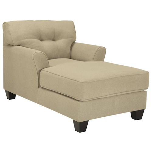 Benchcraft Laryn Buttonless Tufted Two-Arm Chaise