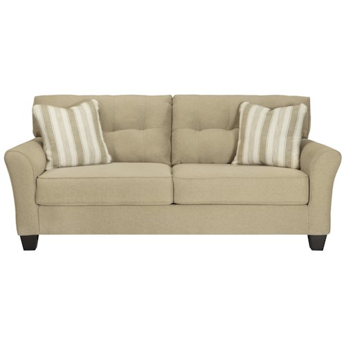 Ashley/Benchcraft Laryn Contemporary Sofa in Khaki Fabric