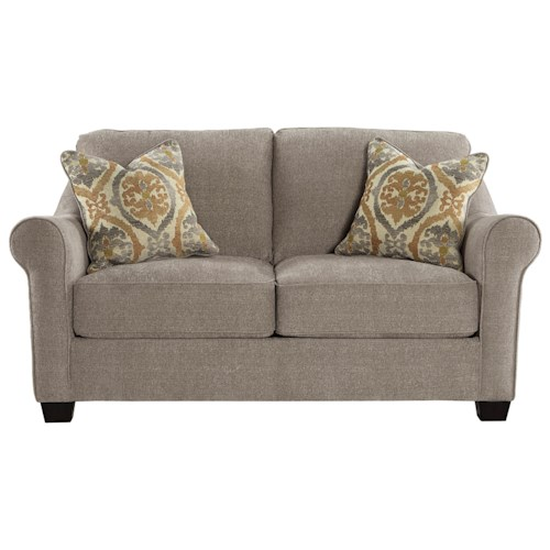 Ashley/Benchcraft Leola Contemporary Loveseat with Reversible UltraPlush Seat Cushions