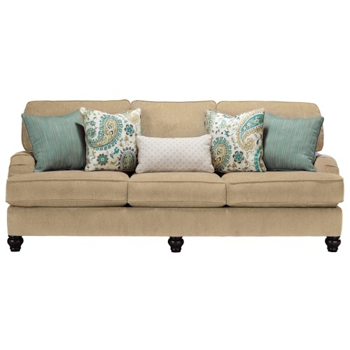 Ashley Lochian Sofa with Reversible Coil Seat Cushions & English Arms