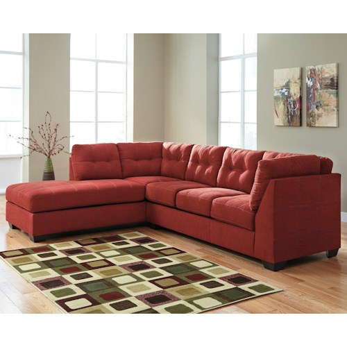 Benchcraft Maier - Sienna 2-Piece Sectional w/ Sleeper Sofa & Left Chaise