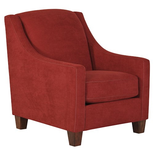 Ashley/Benchcraft Maier - Sienna Contemporary Accent Chair with Sloping Track Arms