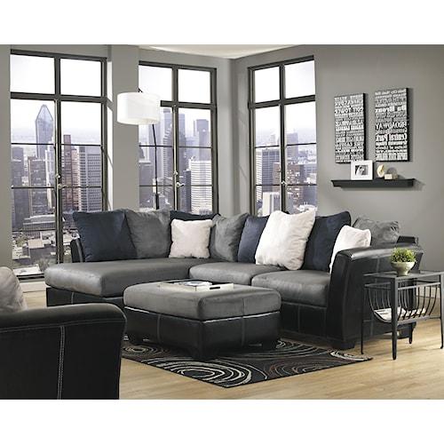 Benchcraft Masoli - Cobblestone Stationary Living Room Group