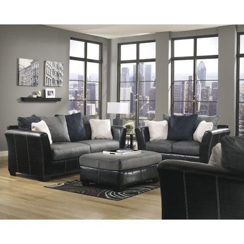 Benchcraft Masoli - Cobblestone Stationary Living Room Group