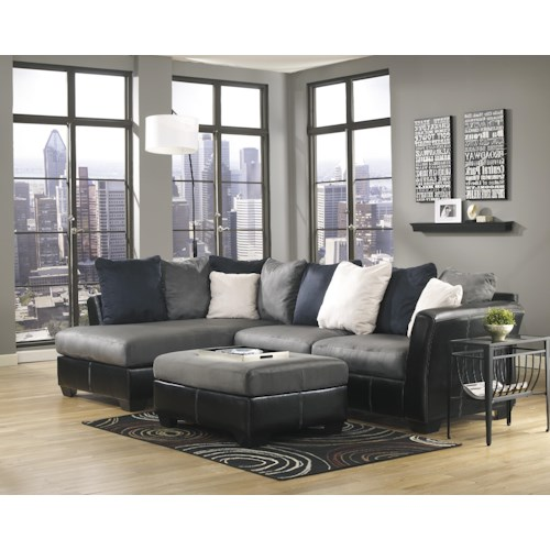 Ashley/Benchcraft Masoli - Cobblestone Stationary Living Room Group