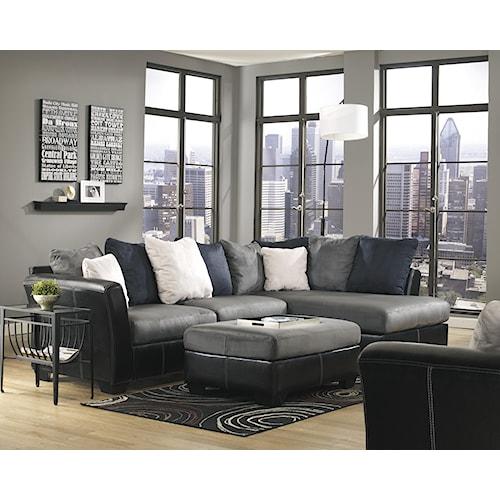 Ashley/Benchcraft Masoli - Cobblestone Stationary Living Room Group