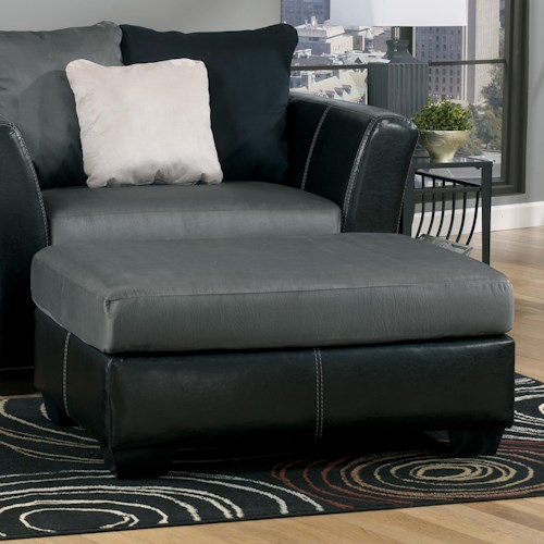 Ashley/Benchcraft Masoli - Cobblestone Oversized Accent Ottoman