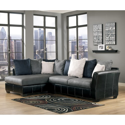 Ashley/Benchcraft Masoli - Cobblestone 2-Piece Sectional with Left Chaise