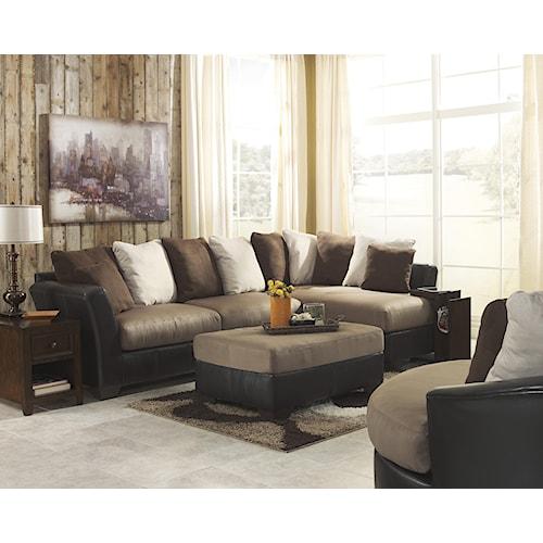 Benchcraft Masoli - Mocha Stationary Living Room Group
