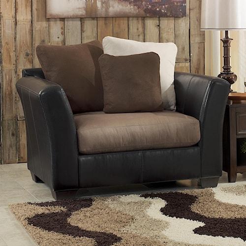 Ashley/Benchcraft Masoli - Mocha Chair and a Half