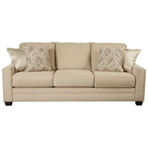 Ashley Mauricio Queen Sofa Sleeper with Memory Foam Mattress