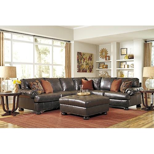 Benchcraft Nesbit DuraBlend® Stationary Living Room Group