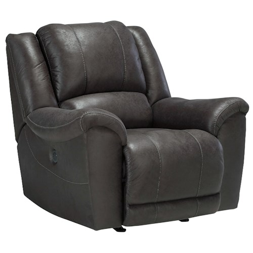 Benchcraft Jackson Grey Rocker Recliner