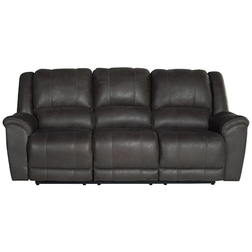 Benchcraft Niarobi Contemporary Faux Leather Reclining Sofa