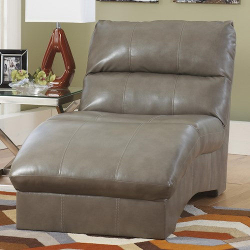 Ashley Paulie DuraBlend® - Quarry Contemporary Chaise with Bonded Leather Upholstery