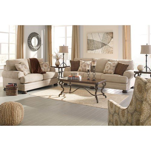 Benchcraft Quarry Hill Stationary Living Room Group
