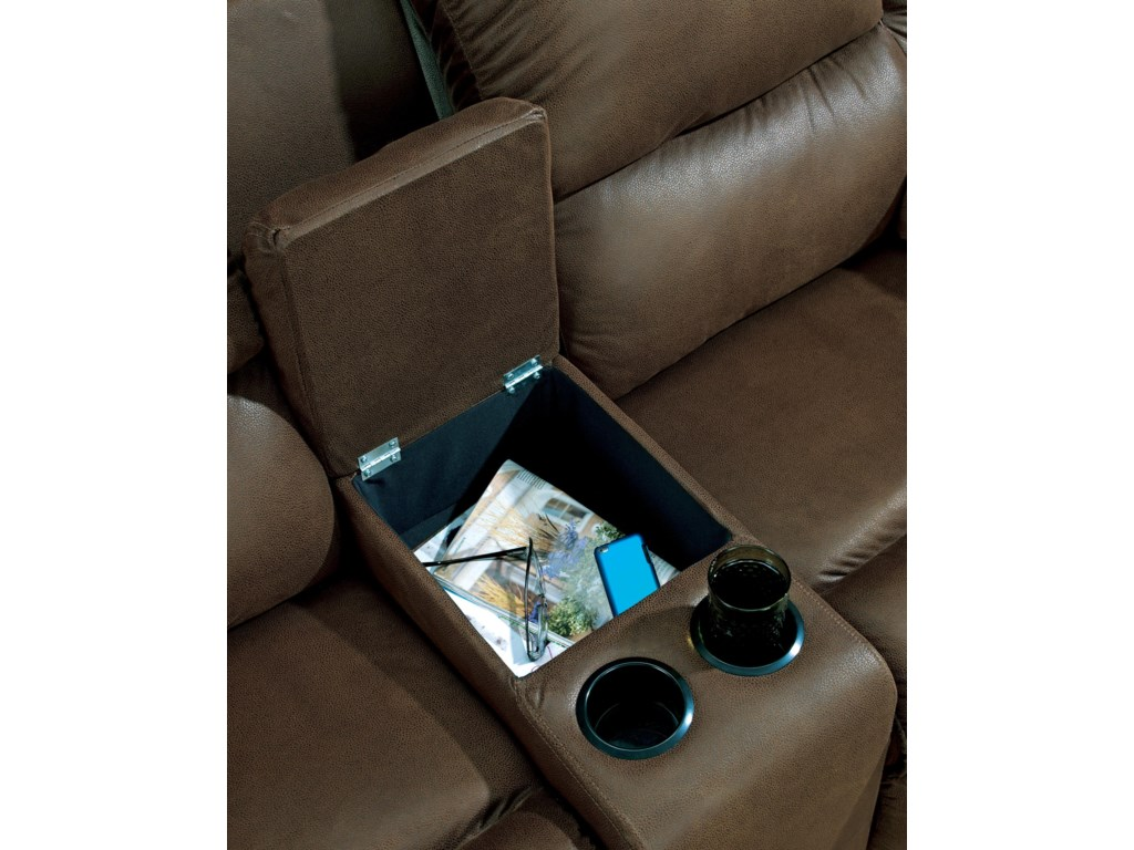 Console with Storage and 2 Cup Holders
