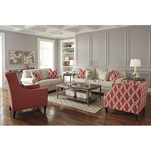 Benchcraft Sansimeon Stationary Living Room Group