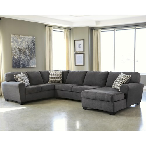 Benchcraft Sorenton Contemporary 3-Piece Sectional with Right Chaise