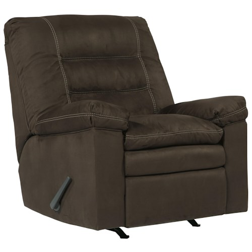 Ashley Talut Rocker Recliner with Pillow Top Seat Cushioning