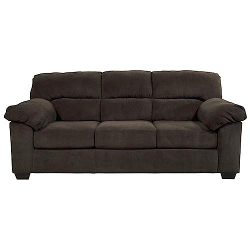 Ashley Zorah Casual Contemporary Full Sofa Sleeper with Memory Foam Mattress