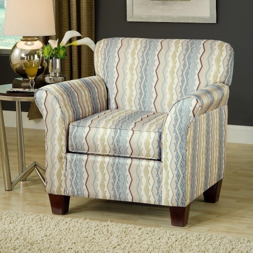 Belfort Essentials Addison Upholstered Accent Chair with Espresso Tapered Wood Legs