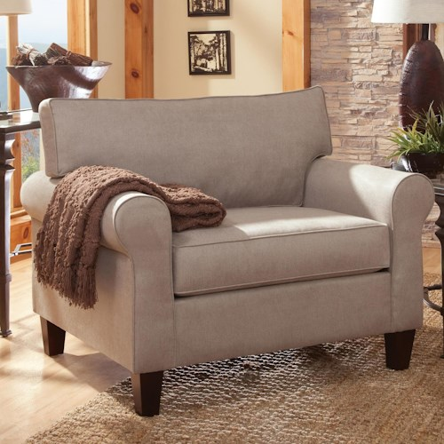 Belfort Essentials Columbia Heights Upholstered Chair with Rolled Arms