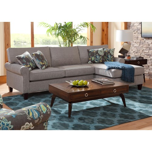 Belfort Essentials Columbia Heights Chaise Sectional Sofa