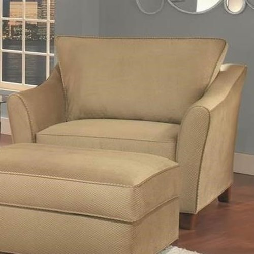 Belfort Essentials Fleetwood 2 Arm Chair with Tapered Block Feet