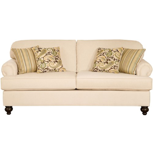 Belfort Essentials Sterling  Traditional Sofa With Rolled Arms