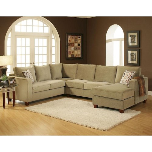 Belfort Essentials Tenley U-Shaped Contemporary Sectional with Right Chaise