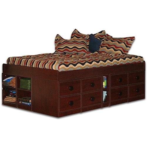 Berg Jr. Captain's Bed Low Frame Full Captain's Bed