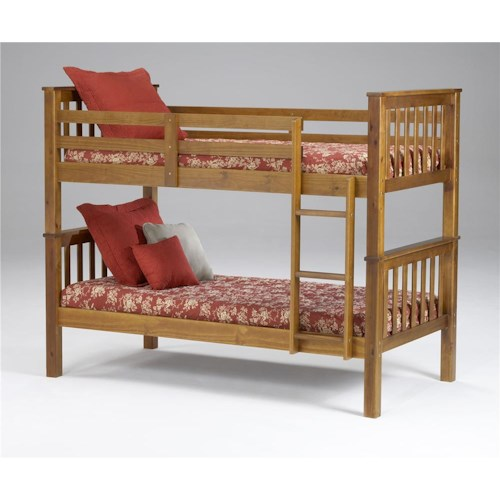 Morris Home Furnishings Brookland Twin Bunkbed