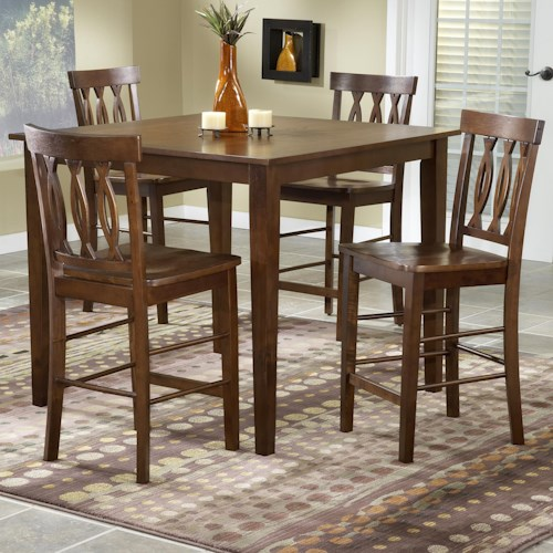 Bernards 5712 5 Piece Pub Table & Chair Set