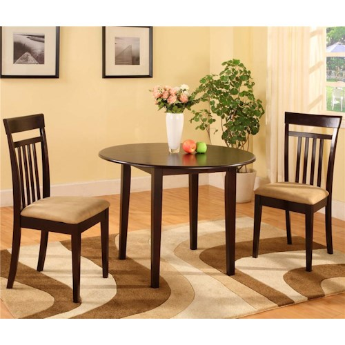 Bernards 5808 3 Piece Drop Leaf Dinette