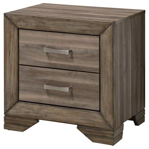 Bernards Asheville Rustic Contemporary Nightstand