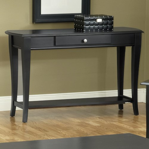 Morris Home Furnishings Broadway Sofa Table with Drawer and Shelf