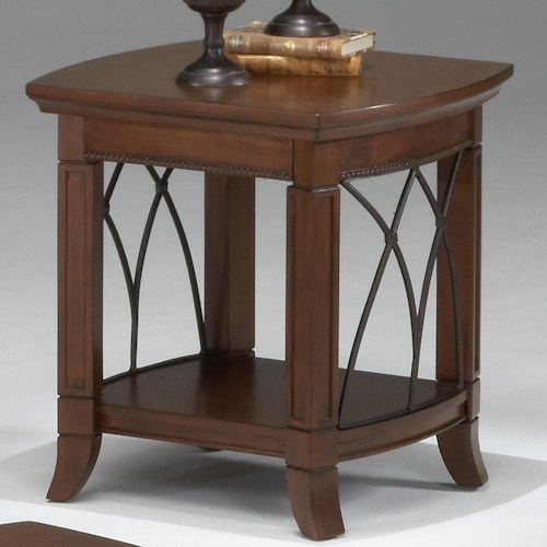 Morris Home Furnishings Cathedral Cherry End Table w/ Lower Shelf
