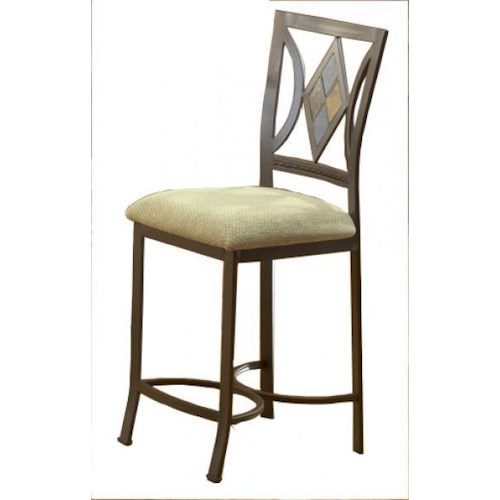 Morris Home Furnishings Bradford Bar Stool with Diamond Back